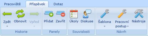 Možnost detailnějšího popisu úkolu kliknutím na tlačítko Úkoly